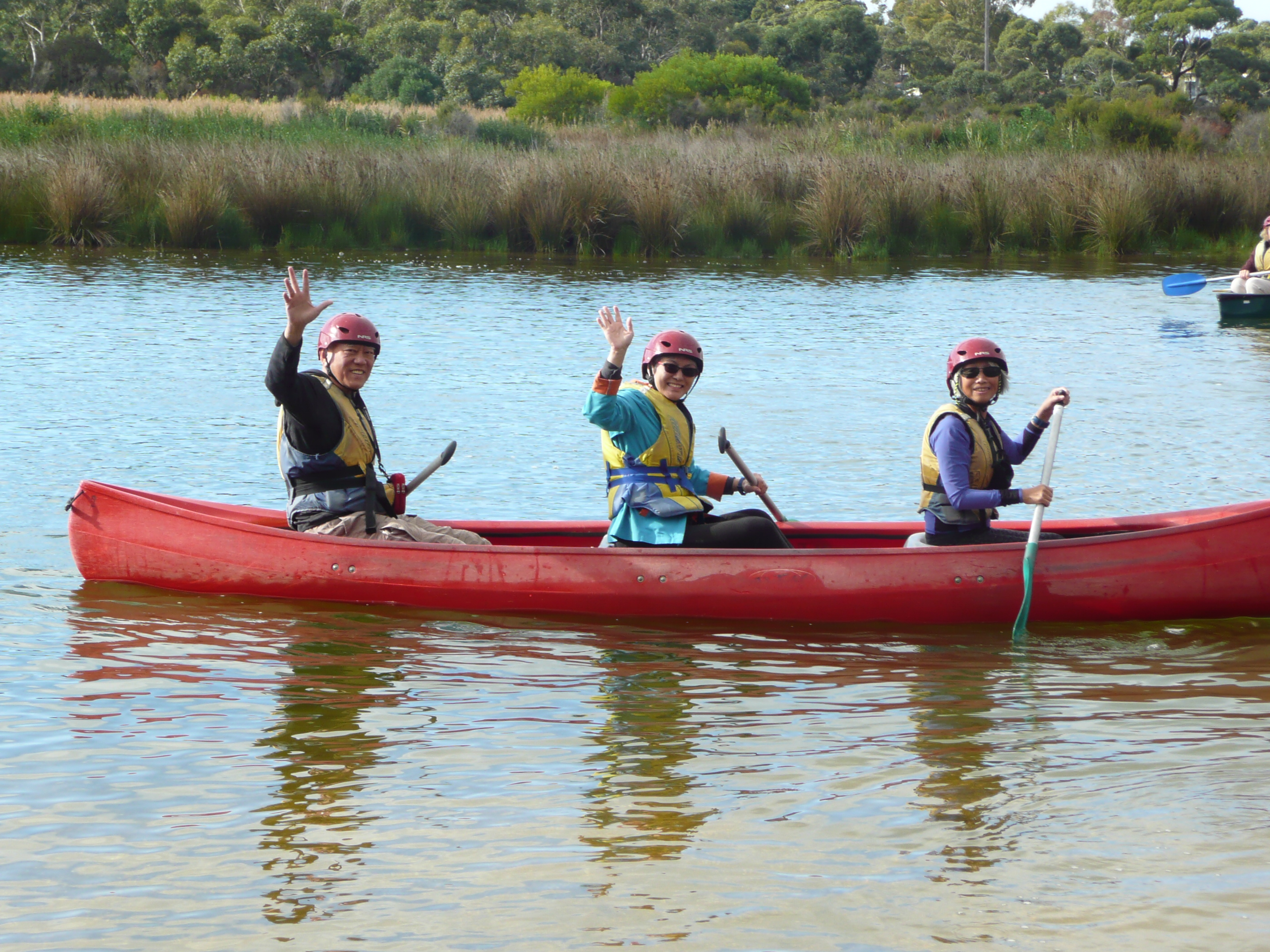 Anglesea Camp Canoeing Kin chung nancy and Pat.JPG